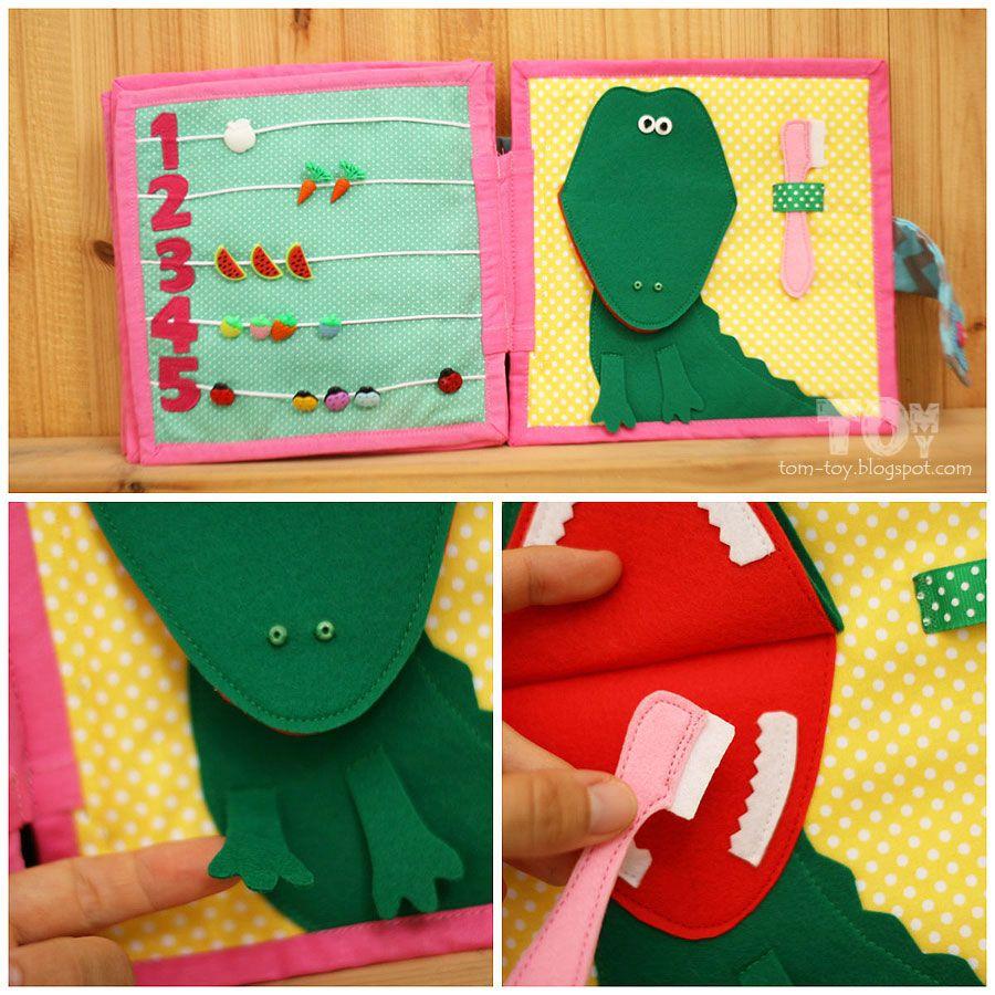 quiet book for charlotte tom toy handmade pinterest