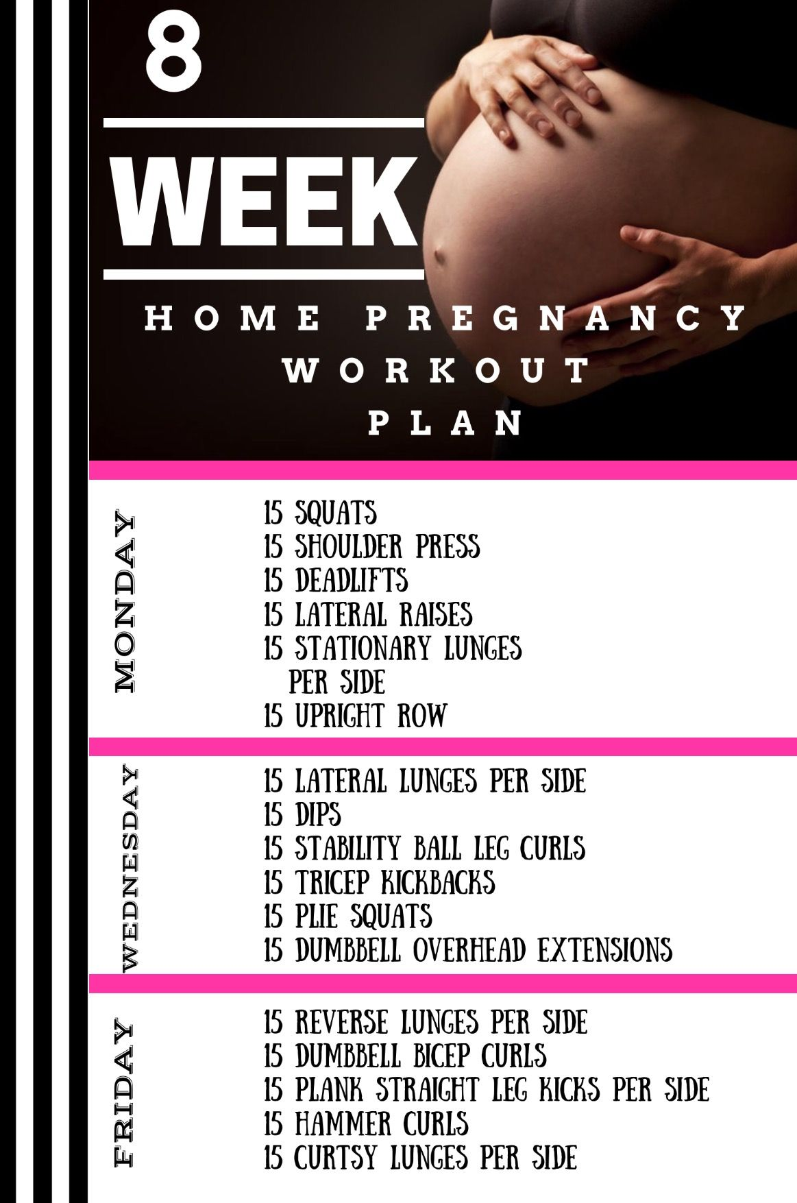 8 First Home Decorating Ideas You Ll Want To Steal: Monthly Home Pregnancy Workout
