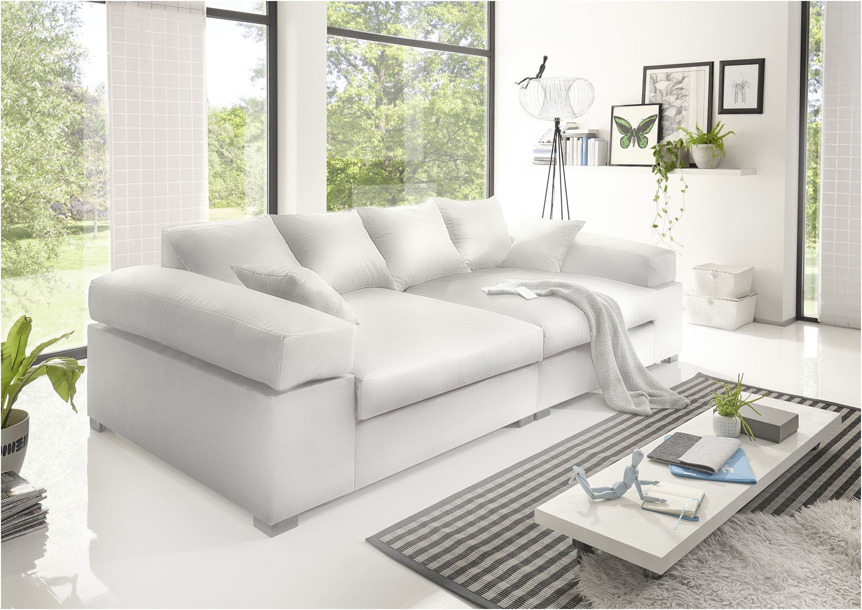 Big Sofa Couchgarnitur Megasofa Riesensofa Arezzo Kunstleder Weiss Di 2020