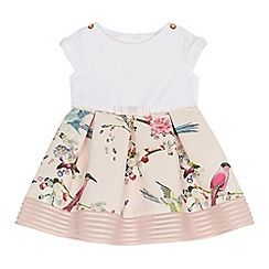 7b54e0762 Baker by Ted Baker - Baby girls' pink bird print ottoman dress ...