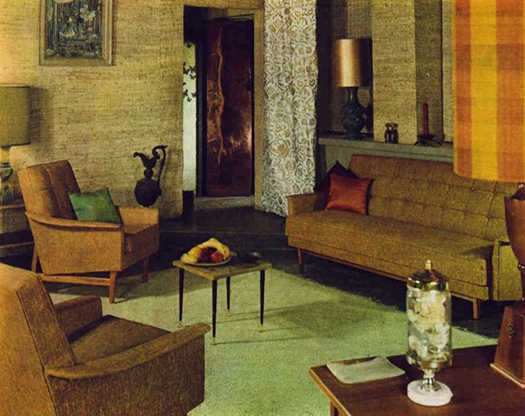 Pin by sue rutherford on mid century living rooms d co vintage vintage table vintage - Idees decors du milieu du siecle salon ...
