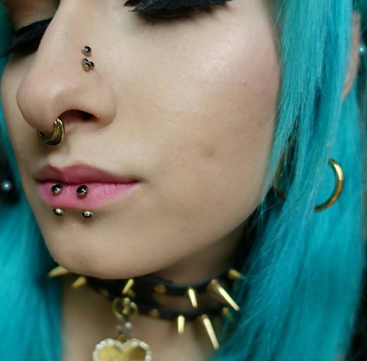 Girl nose piercing  Pin by Saria on Girl Crush  Pinterest  Pierced girls