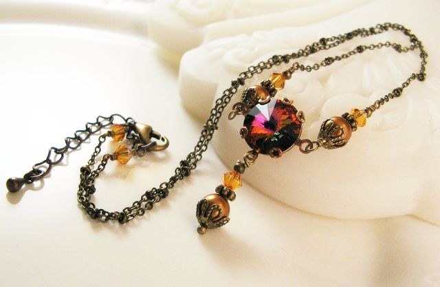 'New Swarovski Volcano Necklace' is going up for auction at  2pm Fri, Sep 6 with a starting bid of $2.