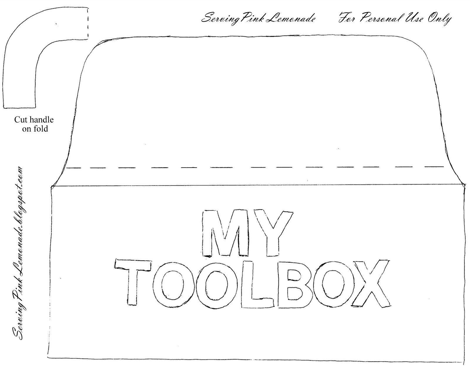 Felt Toolbox Tool Box Quiet Book Templates Busy Book