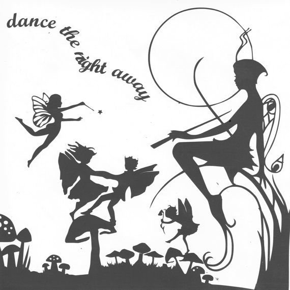 Cut your own musical fairyland paper cutting template for Fairy cut out template