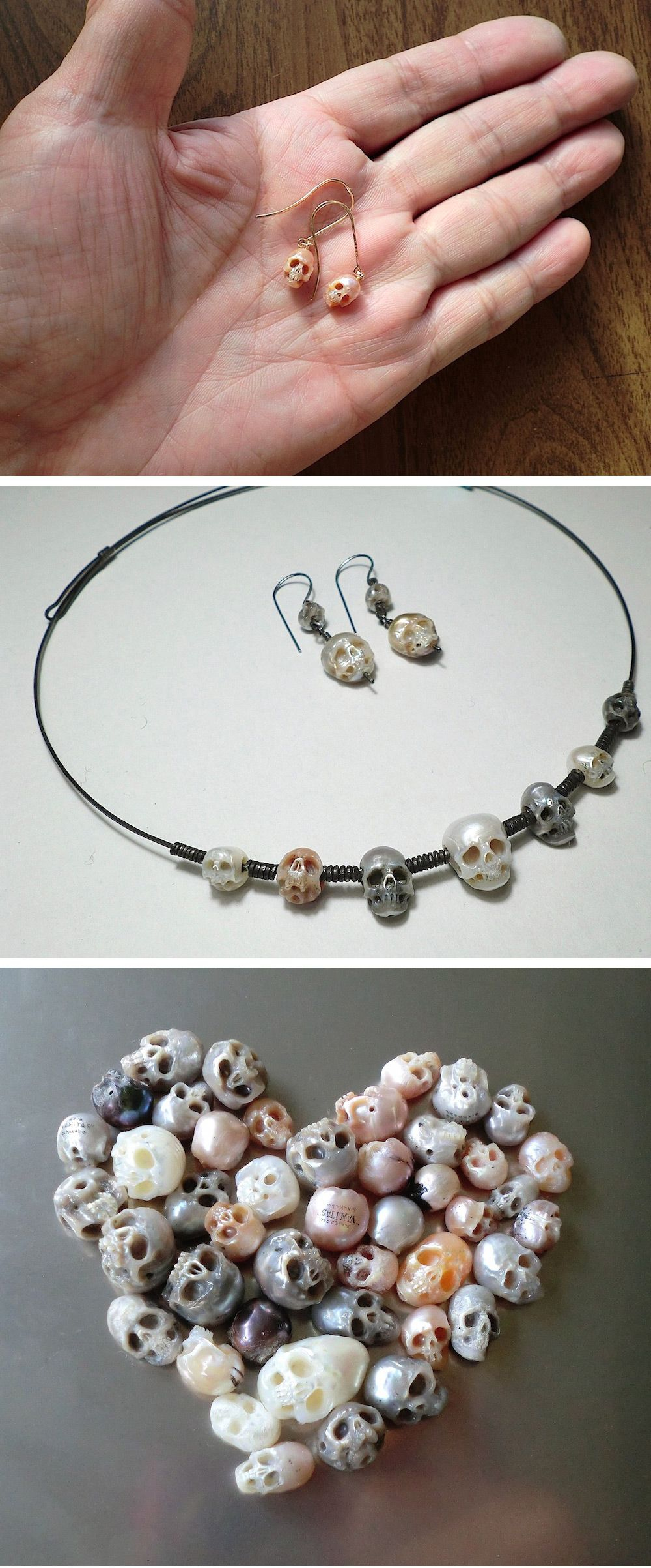 New Miniature Anatomical Sculptures and Jewelry Carved From Pearls by Shinji Nakaba