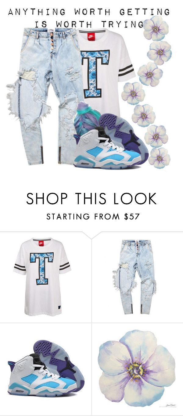 """""""Trying--"""" by be-you-tiful-flower ❤ liked on Polyvore featuring NIKE, women's clothing, women's fashion, women, female, woman, misses and juniors"""