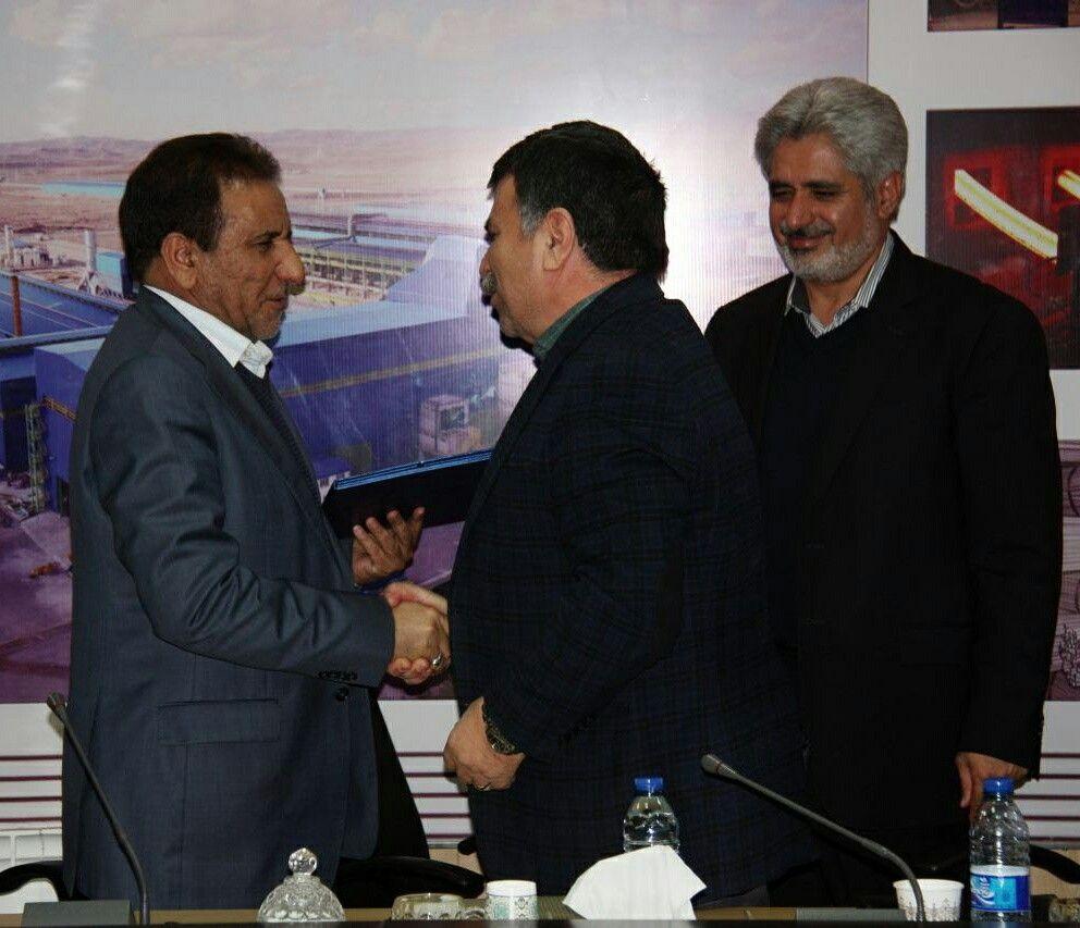 مراسم معارفه مدیرعامل جدید مجتمع فولاد صنعت بناب جناب آقای محمد رضا ادریسی