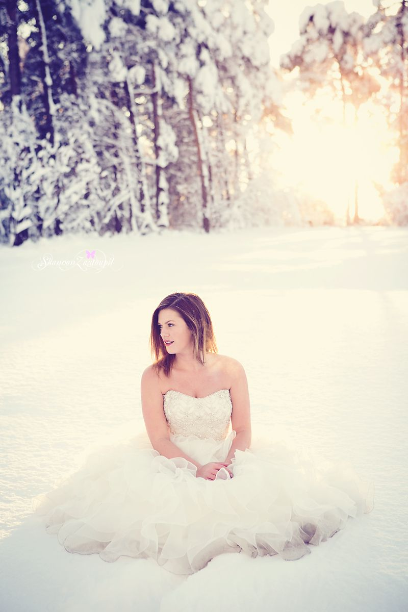 Bride In The Snow Bridal Portrait Snow Bride Trash The Dress