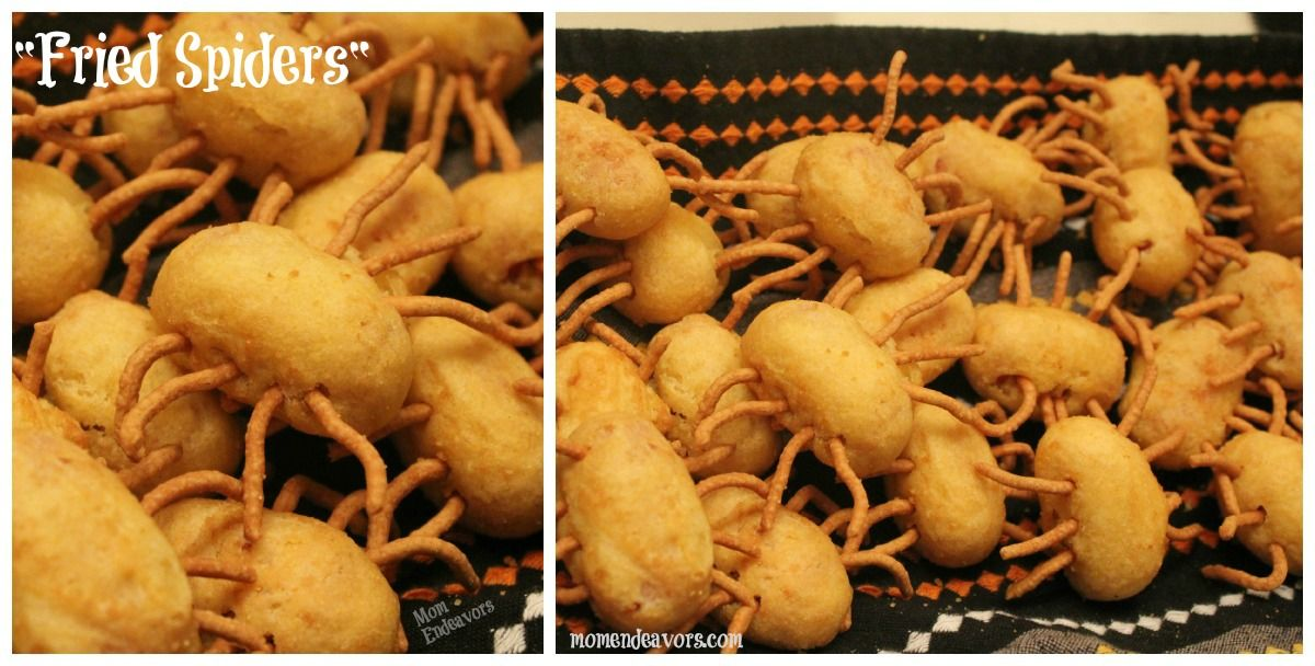 Dinner Party Ideas For Kids Part - 47: Fried Spiders/ Bug Bites For Party Food
