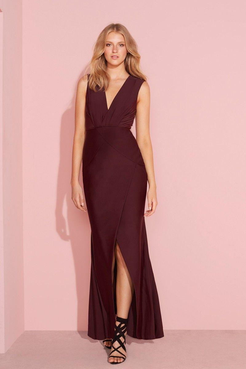 OASIS MAXI DRESS - MERLOT - Dresses | Vanessa Bridesmaids | Pinterest