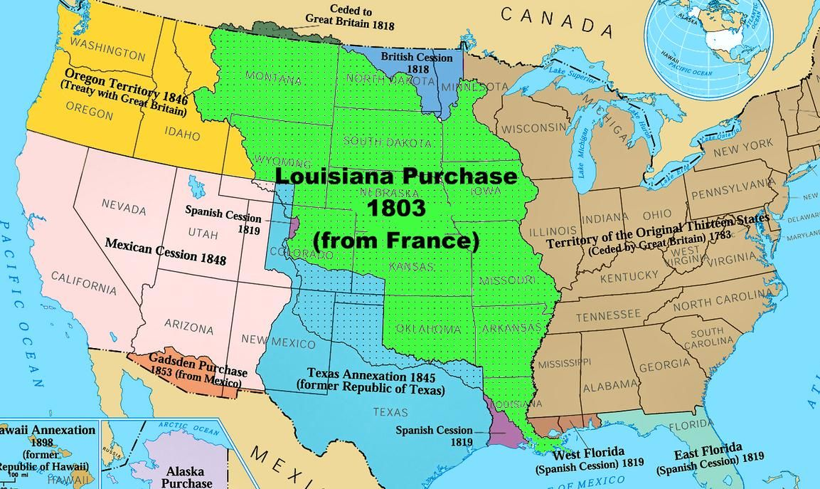 united states map louisiana purchase The Louisiana Purchase French Vente De La Louisiane Sale Of