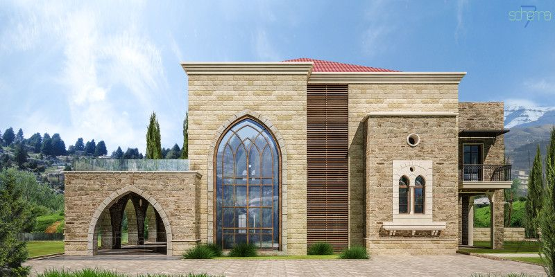 Lebanese Traditional House By