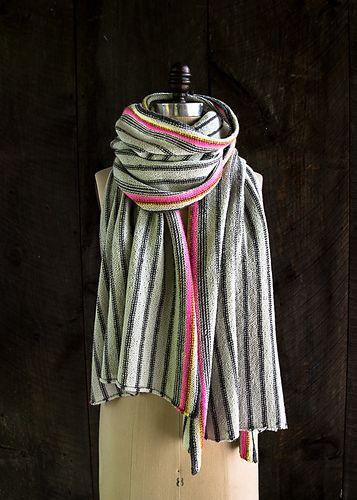Ticking Stripe Wrap pattern by Purl Soho | knitting | Wrap