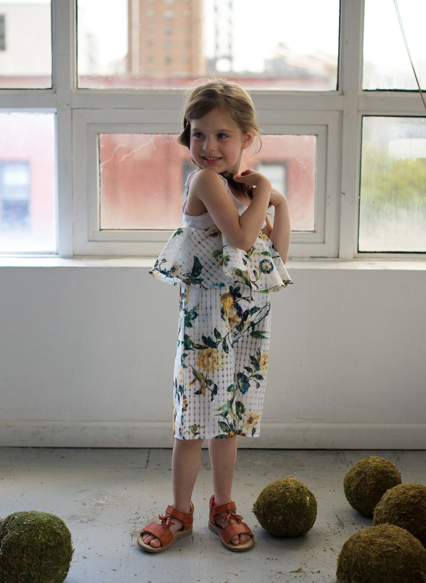 Vierra Rose Petra Ruffle Romper in Bird Print - PRE-ORDER