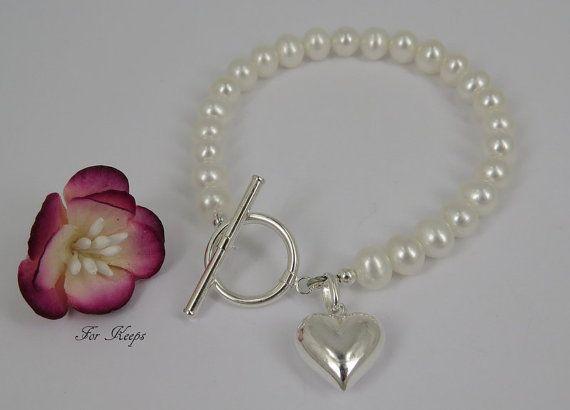 Freshwater Pearl & Sterling Silver Bracelet. by ForKeepsbridalUK