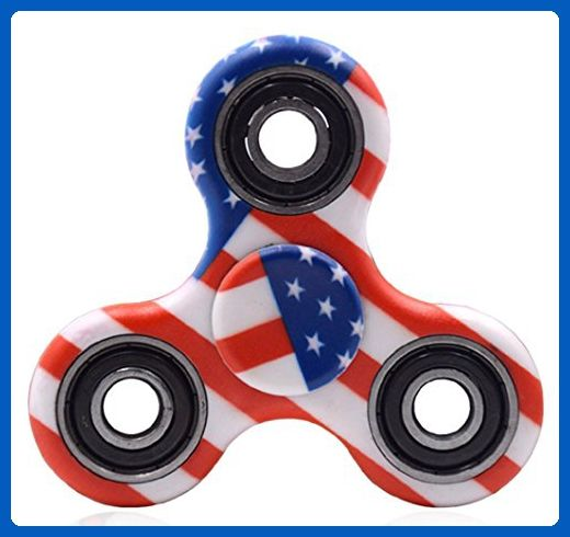 Pattern Design Fidget Spinner Toy for Stress Stars and Stripes USA Flag