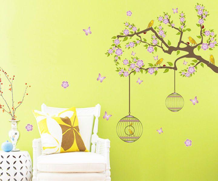 Pas cher hot vente de p che arbre flottant rose cage motif for Acheter maison en chine