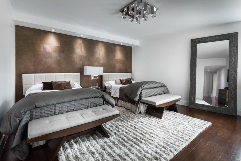 Contemporary Guest Bedroom Is Oasis Away From Home Contemporary Guest Bedroom Home Home Decor Bedroom Contemporary spare bedroom ideas