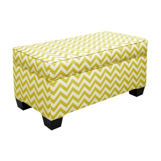 Foyer Ottoman For Under Console Table: Skyler Storage Ottoman By Skyline  Furniture ; $224.79/