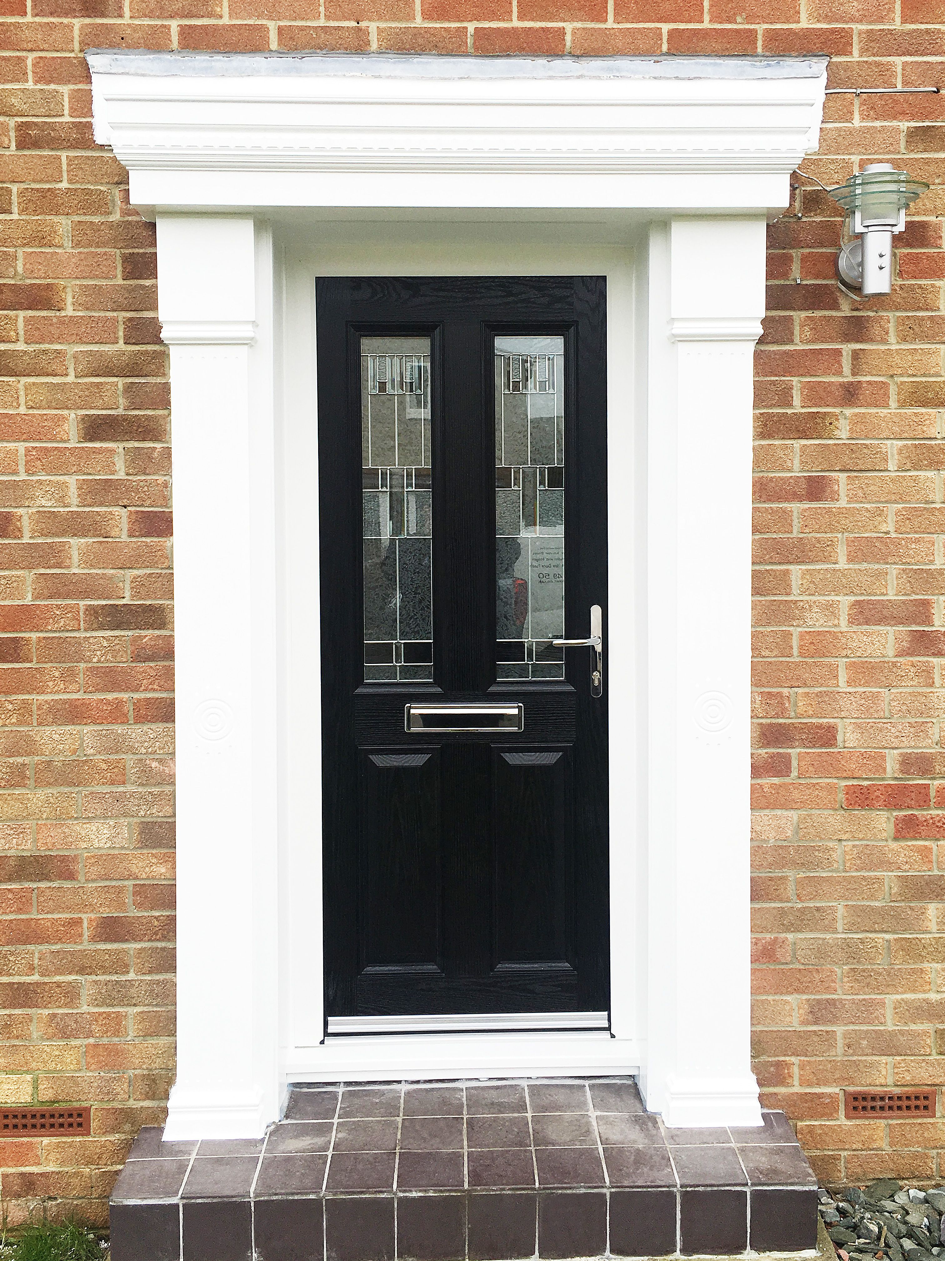 Classical Meets Modern, a Black Alt-more Composite door design ...