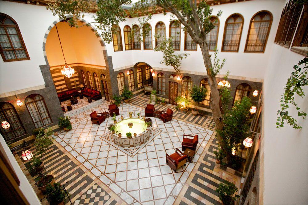 Courtyard Beit Zafran Hotel De Charme Damascus Syria Luxury