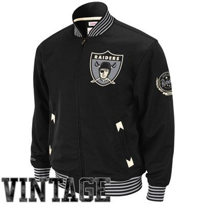 buy online a3dc0 70205 Mitchell & Ness Oakland Raiders Champions Full Zip Track ...