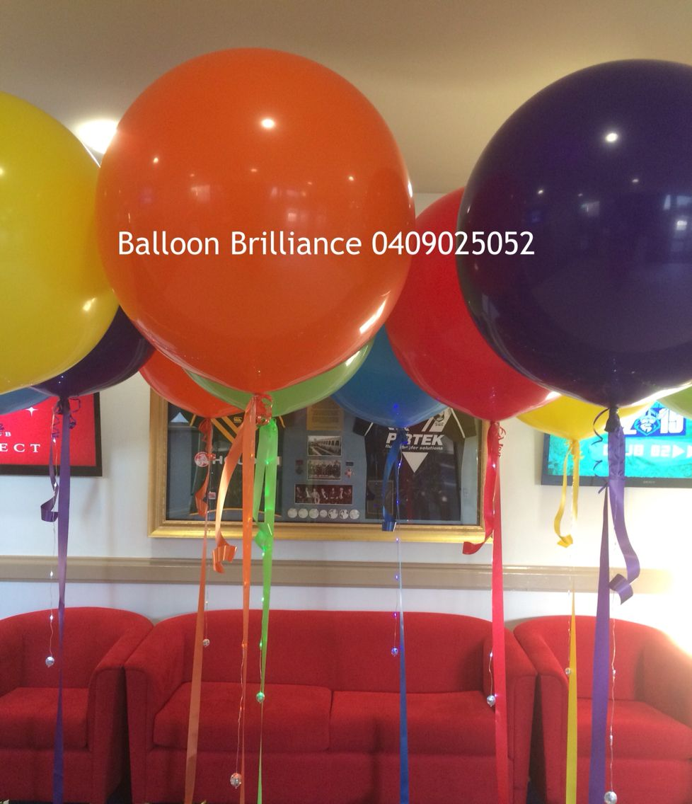 """""""Carnivale at the Raiders v Knights game"""" #raiders #canberraraiders #knights #newcastleknights #heliumballoonscanberra  #jumboballoons #giantballoons #sparkleribbons #carnivale #act #cbr #canberraballoons #BalloonBrilliance"""