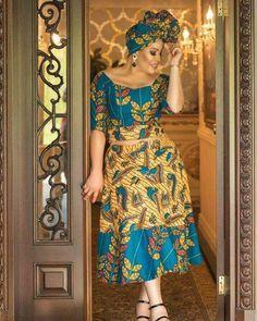 "Dress made by me (@triciachays) on Instagram: ""Ankara never looked this good @monalisacode . Dress made by me.  #ankara #ankarafashion…"""