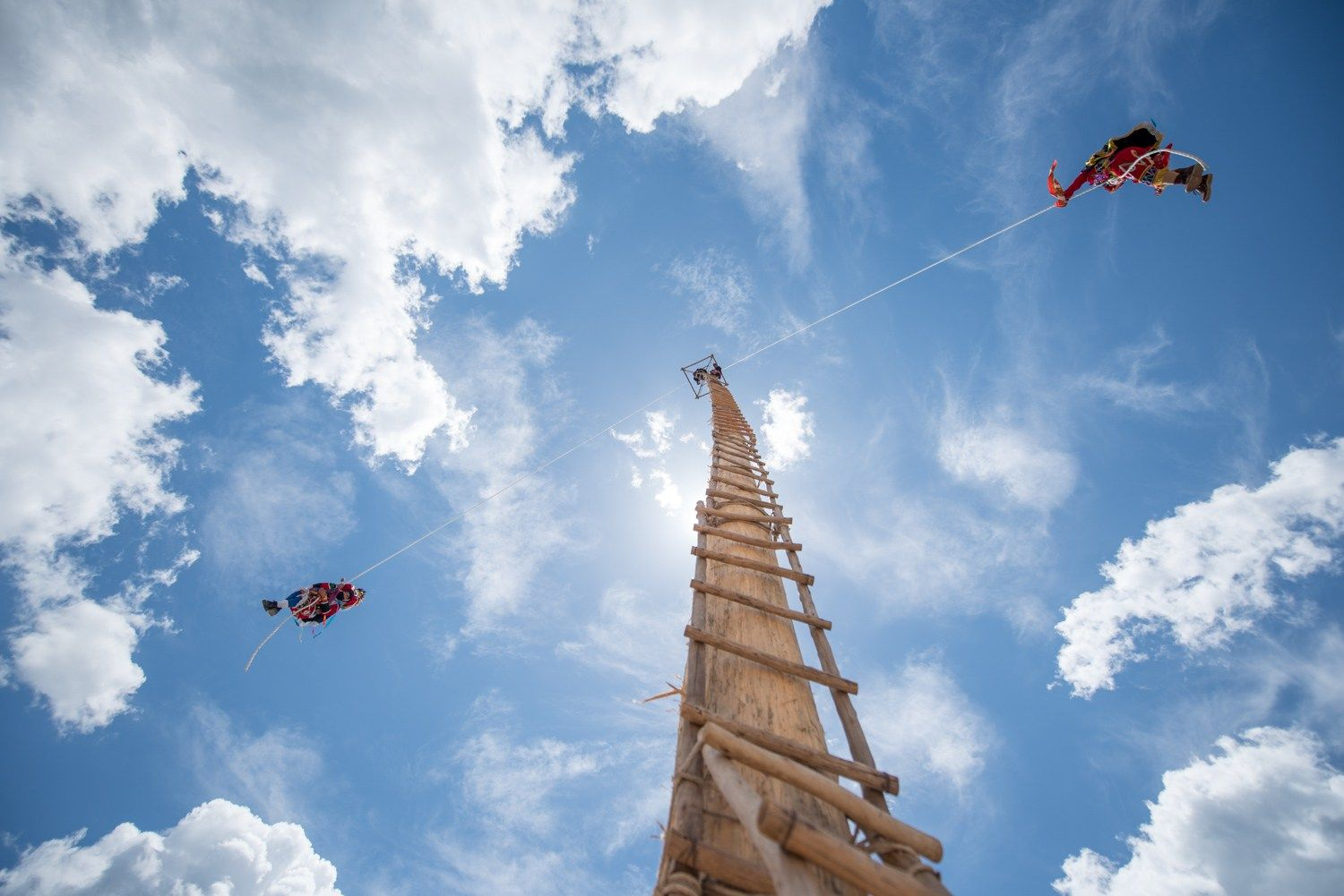 Angel Dancers Descend From The 40m Tall Tree Photo Santiago  # Muebles En Kaqchikel