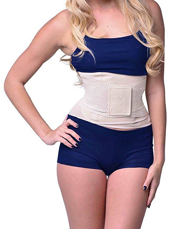 007ddbad21a Camellias Women Waist Trainer Belt Body Shaper Belly Wrap - Trimmer Slimmer  Compression Band for Weight Loss Workout Fitness at Amazon Women s Clothing  ...