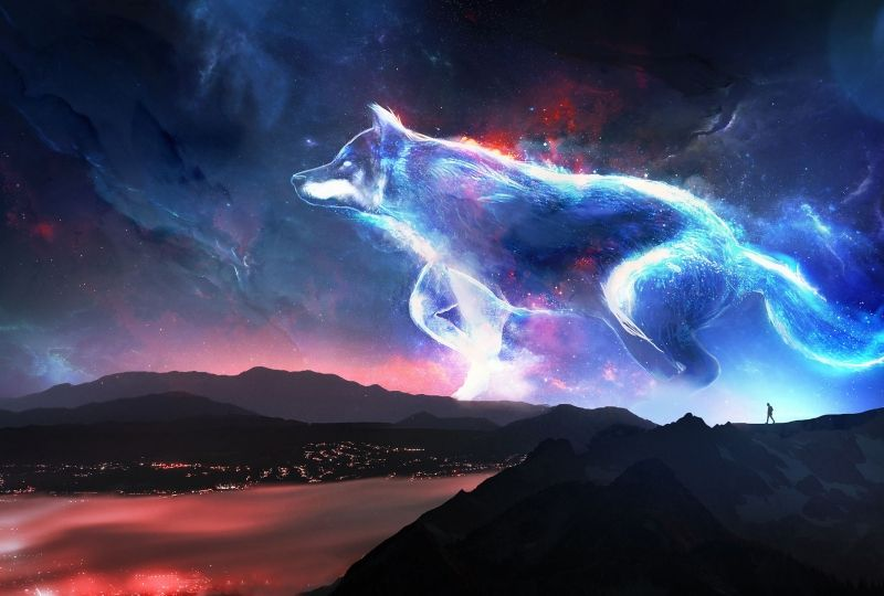 Wolf 2560x1440 Nebula Surreal Hd 2019 Wallpaper Wallpaper Grab Wallpapers Free Downloads Of Hd Wallpapers For Fantasy Wolf Wolf Background Art Wallpaper