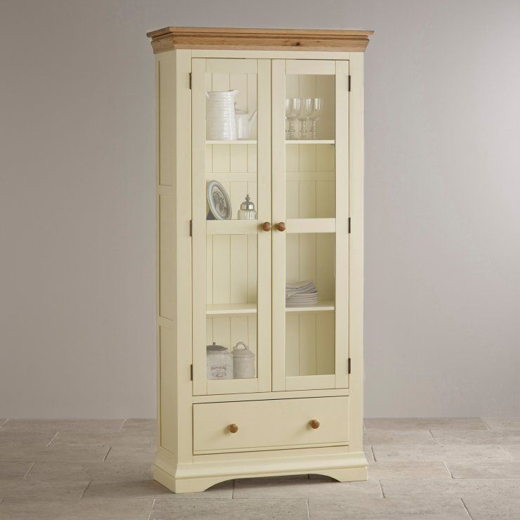 Room · Country Cottage Painted Natural Oak Display Cabinet