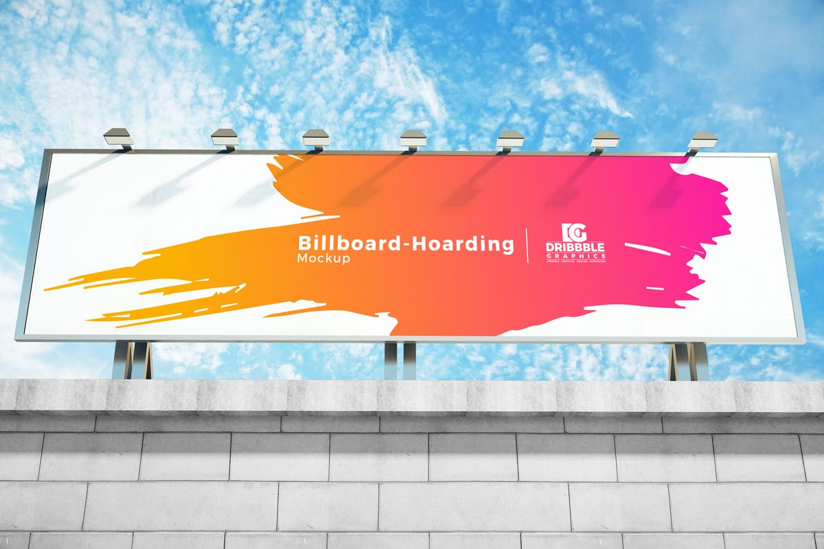 Billboard Hoarding Psd Mockup For Outdoor Advertising Billboard Hoarding Psd Mockup Outdoor Advertising Mockup Psd Hoarding Design Billboard