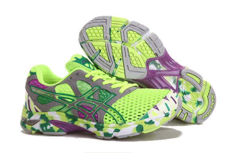 Asics Running Green Womens Shoes