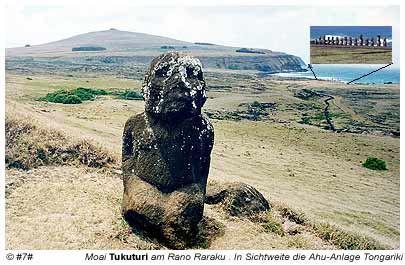 Moai Tukuturi - der einzige Moai der kniet