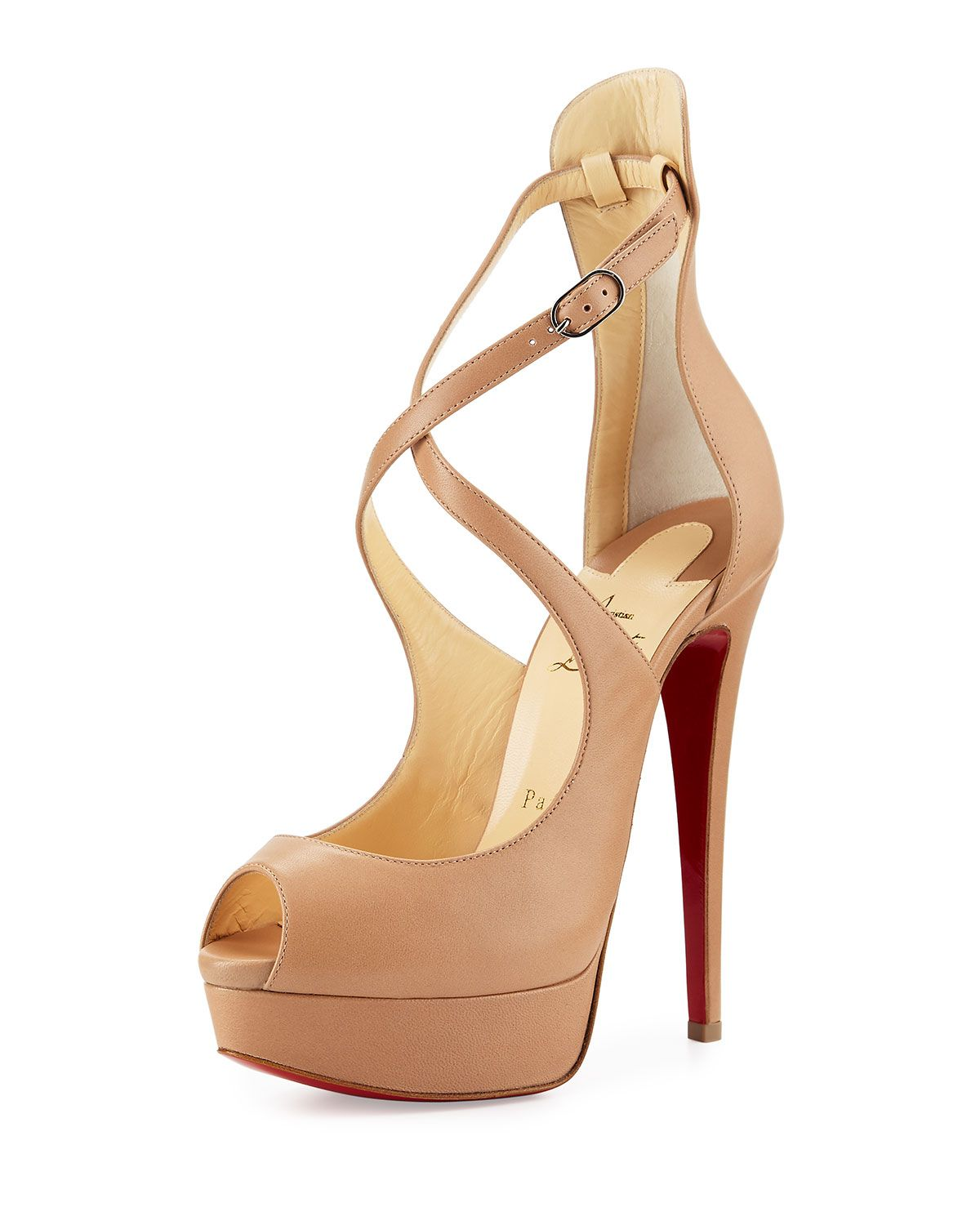 online store 9d399 39af9 Christian Louboutin Marlenalta Leather 150mm Red Sole Pump ...