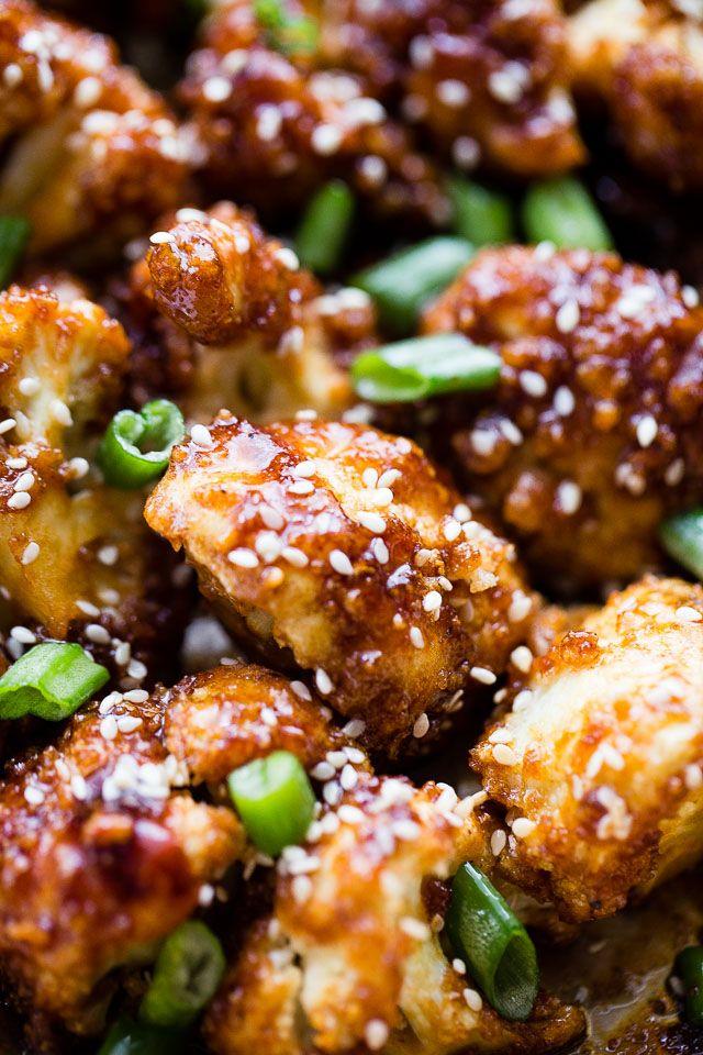 Photo of Sticky Sesame Cauliflower Bites | Easy Cauliflower Dinner Recipe