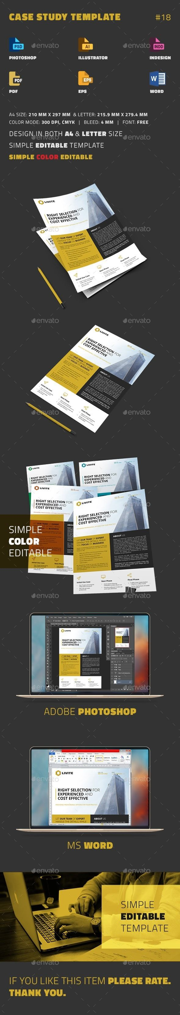 Case Study Template  Newsletter Templates Template And Print