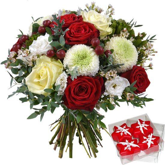 Bouquet Noel Authentique Et Ses Bougies Flottantes En Vente Sur