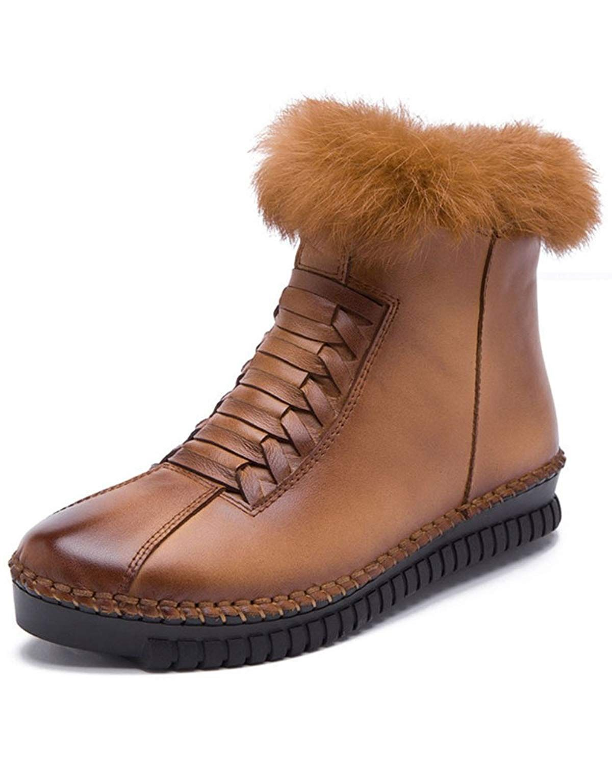 a2fab2e85f8e Women s Thick Fleece Warm Winter Anti Slip Real Leather Ankle Snow Boots      Do hope you actually love our photo. (This is an affiliate link)   ...