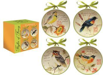 ICFFSM  Flight of Fancy Summer Mini Plates© Susan Winget                                                        birds
