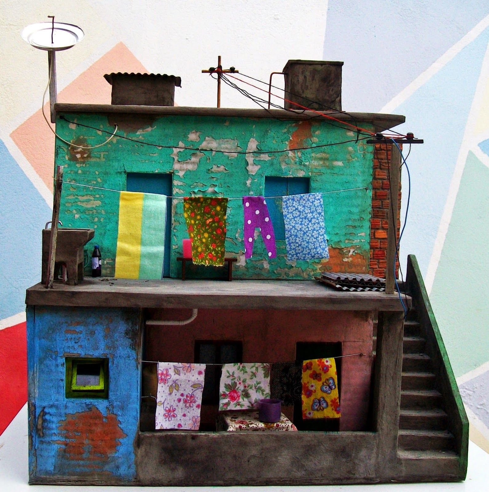 Casa do Imaginário : Pequena Casa de Favela - Maquete
