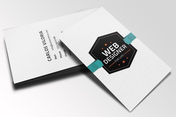 This One Was Designed By Carlos Viloria And It S A Very Attractive Business Card Template W Business Card Psd Free Business Card Template Psd Business Card Psd