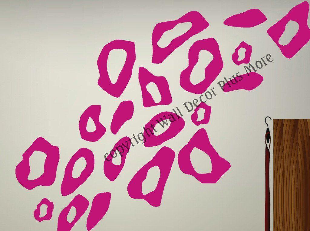 Amazon.com: Leopard Animal Print Wall Vinyl Circle Stickers Rings ...