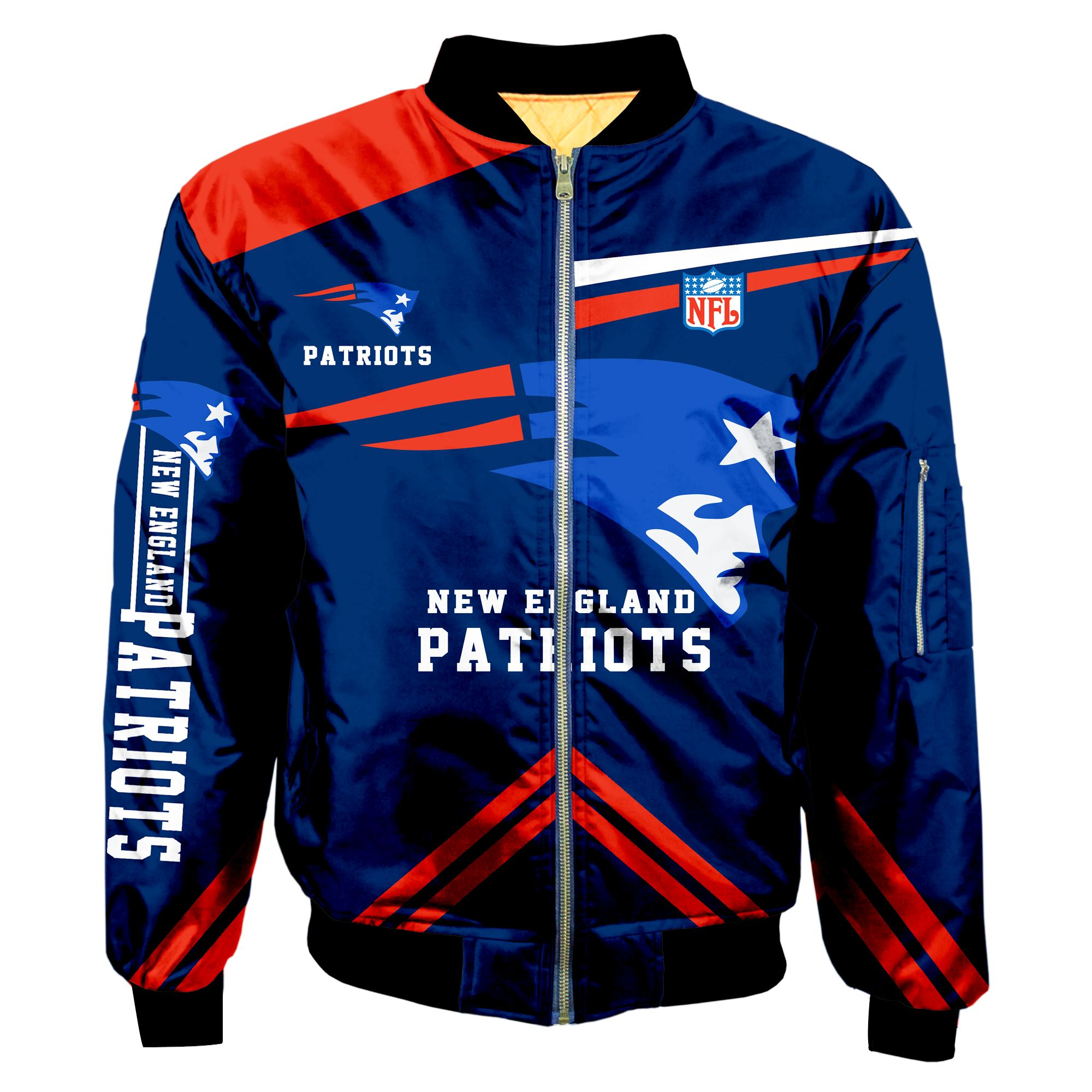 New England Patriots Bomber Jacket Men Women CottonPadded