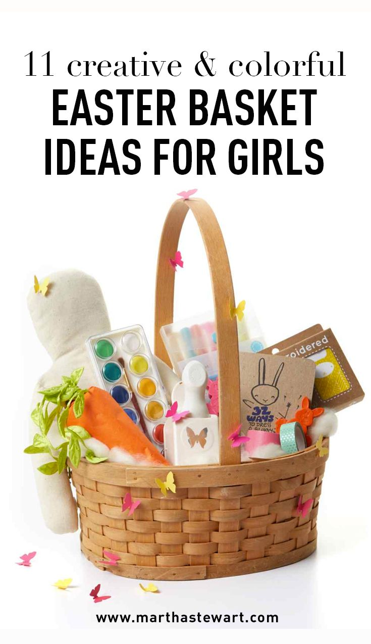 11 Creative & Colorful Easter Basket Ideas for Girls | Martha Stewart Living - Girls like to dream big, think outside the box, and color outside the lines ...