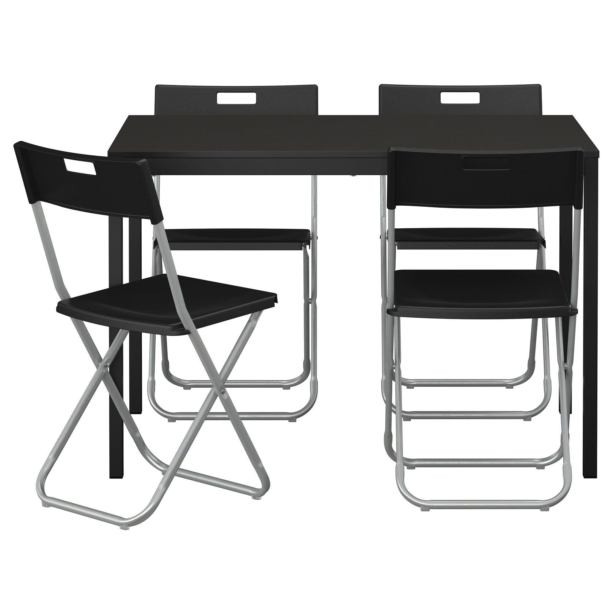 Tarendo Gunde Tisch Und 4 Stuhle Schwarz Ikea Osterreich