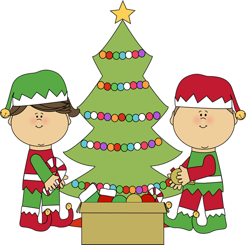 elves decorating a christmas tree christmas clip art pinterest rh pinterest com show and tell clipart free