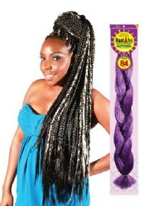 Rastafri Synthetic Afrelle 100 Kanekalon Freed M Rapunsel Braid 84in In Hair Extensions